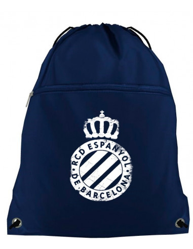 带拉链的海蓝色运动背袋(队徽)