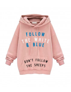 WOMEN PINK FOLLOW SWEATSHIRT