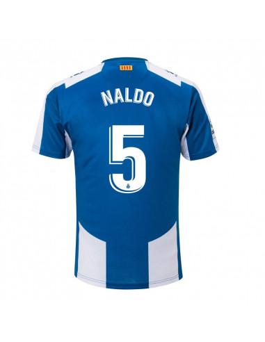 "RCD ESPANYOL HOME SHIRT 2018-19 WITH ""5 NALDO"" PRINTING"