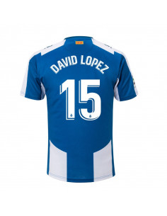 "RCD ESPANYOL HOME SHIRT 2018-19 WITH ""15 DAVID LOPEZ"" PRINTING"