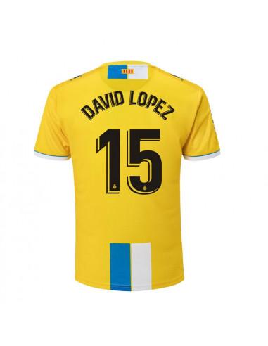 """2018-19赛季西班牙人第二客场球衣 """"15 DAVID LOPEZ"""""""