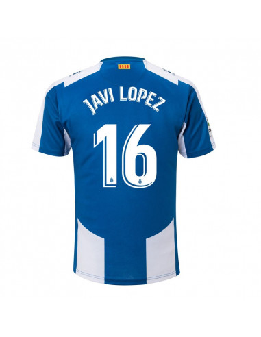 "RCD ESPANYOL HOME SHIRT 2018-19 WITH ""16 JAVI LOPEZ"" PRINTING"
