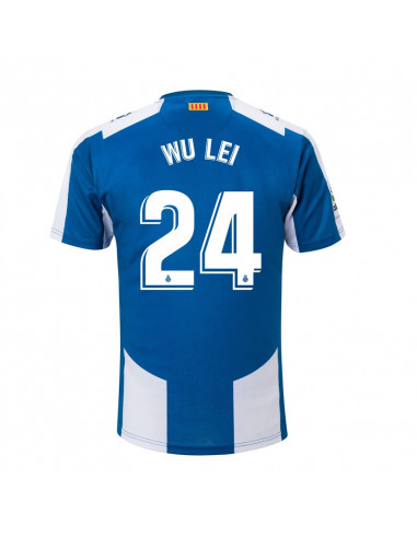 "RCD ESPANYOL HOME SHIRT 2018-19 WITH ""24 WU LEI"" PRINTING"