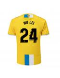 """2018-19赛季西班牙人第二客场球衣 """"24 WU LEI"""""""