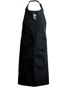 BLACK KITCHEN APRON (PARAKEET)